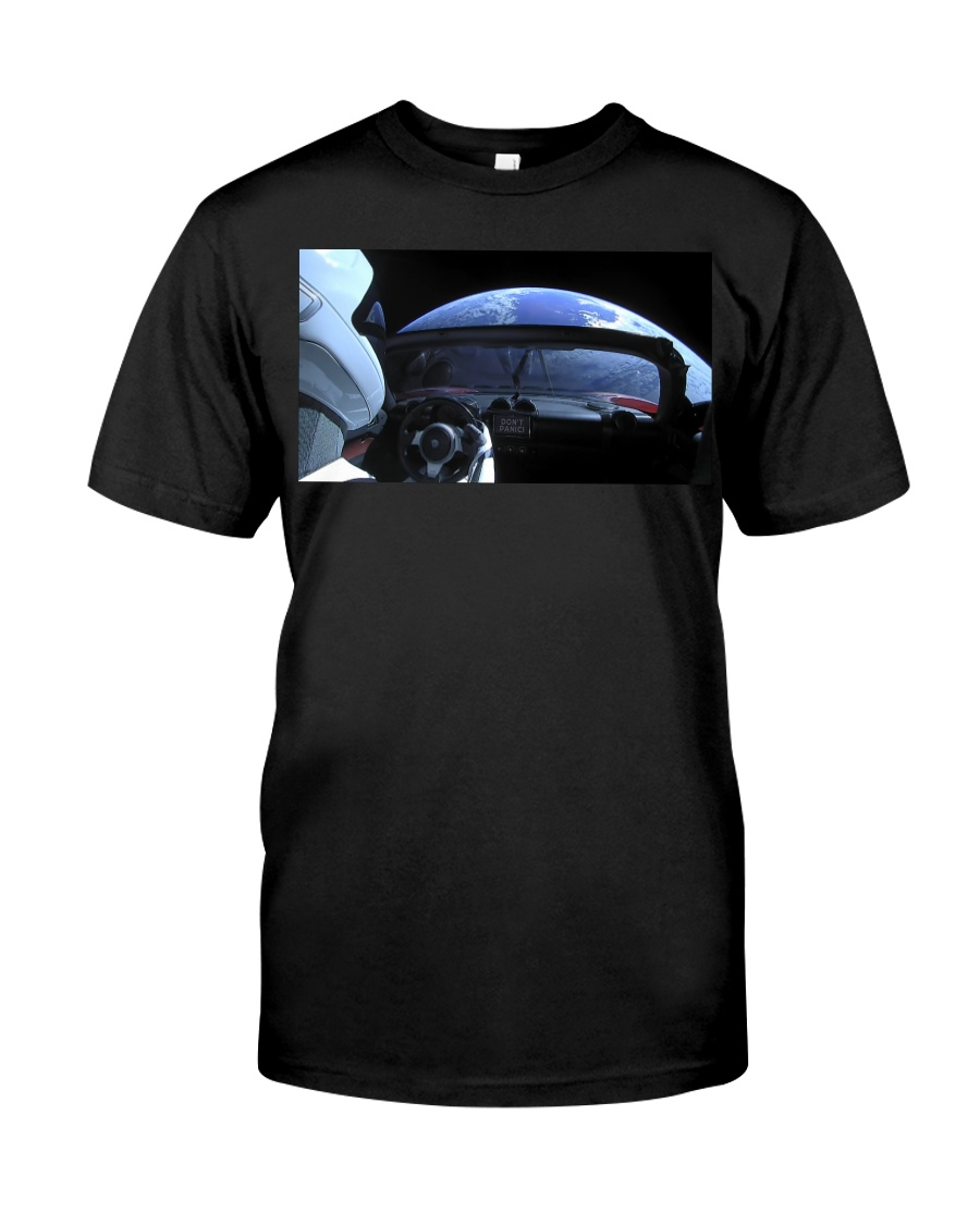 SpaceX Starman Looking at Earth Classic T-Shirt