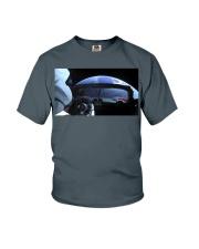 SpaceX Starman Looking at Earth Youth T-Shirt thumbnail