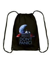 DON'T PANIC - Starman in Space with Roadster Drawstring Bag thumbnail