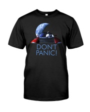 DON'T PANIC - Starman in Space with Roadster Classic T-Shirt front