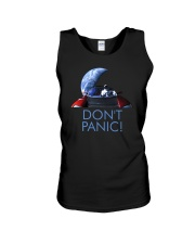 DON'T PANIC - Starman in Space with Roadster Unisex Tank thumbnail