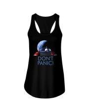 DON'T PANIC - Starman in Space with Roadster Ladies Flowy Tank thumbnail