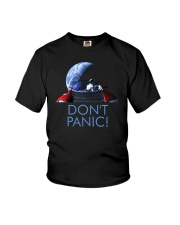 DON'T PANIC - Starman in Space with Roadster Youth T-Shirt thumbnail
