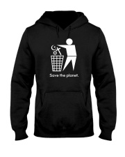 Save the planet - trash religion Hooded Sweatshirt front