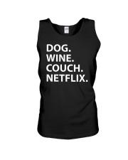 Dog Wine Couch Netflix Shirts Unisex Tank thumbnail