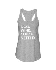 Dog Wine Couch Netflix Shirts Ladies Flowy Tank thumbnail