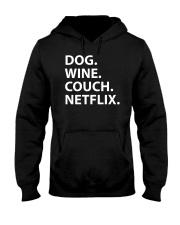 Dog Wine Couch Netflix Shirts Hooded Sweatshirt thumbnail