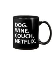 Dog Wine Couch Netflix Shirts Mug thumbnail