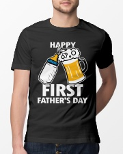 HAPPY FIRST FATHER'S DAY Classic T-Shirt lifestyle-mens-crewneck-front-13