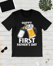HAPPY FIRST FATHER'S DAY Classic T-Shirt lifestyle-mens-crewneck-front-17