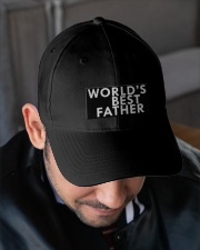 WORLD'S BEST FATHER Embroidered Hat garment-embroidery-hat-lifestyle-02