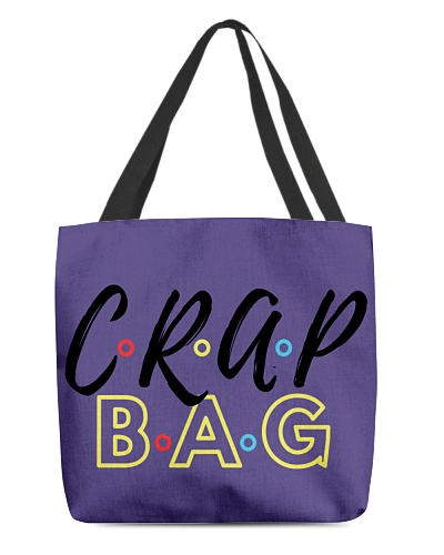 Purple friends bag crap bag Yalow and  white