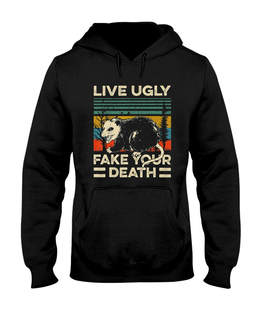 live ugly Hooded Sweatshirt