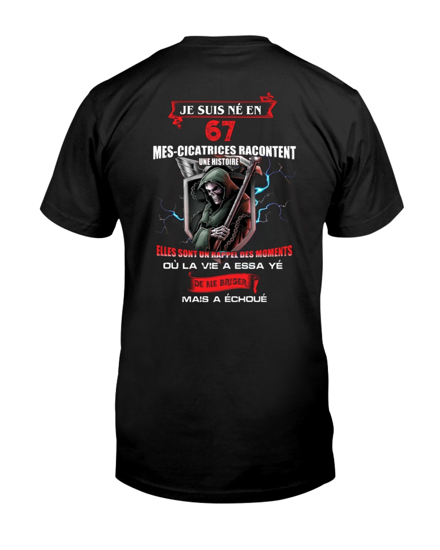 je suis ne en 67 Classic T-Shirt