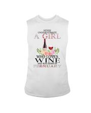febuary who loves wine Sleeveless Tee thumbnail