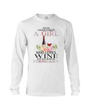 febuary who loves wine Long Sleeve Tee thumbnail