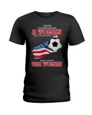 football usa Ladies T-Shirt front