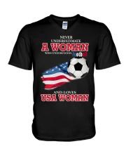 football usa V-Neck T-Shirt thumbnail