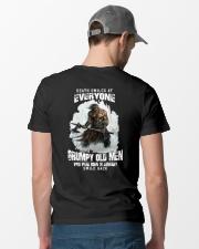 death smiles at everyone grumpy old men january Classic T-Shirt lifestyle-mens-crewneck-back-6