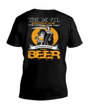 devil beer V-Neck T-Shirt thumbnail