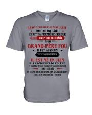 d'un grand pere fou juin V-Neck T-Shirt thumbnail