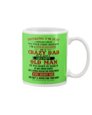 crazy dad born in march Mug thumbnail