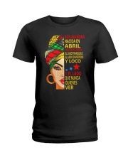abril soy una reina Ladies T-Shirt front