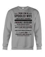 spoiled wife august Crewneck Sweatshirt thumbnail