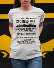spoiled wife august Ladies T-Shirt apparel-ladies-t-shirt-lifestyle-04