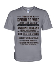 spoiled wife august V-Neck T-Shirt thumbnail