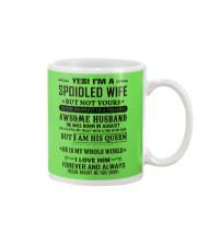 spoiled wife august Mug thumbnail