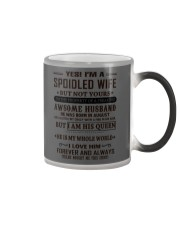 spoiled wife august Color Changing Mug thumbnail