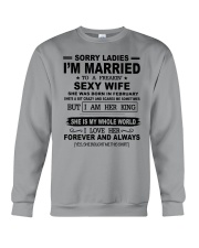 i'm married to a freakin sexy wife february Crewneck Sweatshirt thumbnail