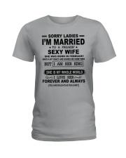 i'm married to a freakin sexy wife february Ladies T-Shirt thumbnail