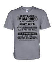 i'm married to a freakin sexy wife february V-Neck T-Shirt thumbnail