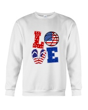 basketball love Crewneck Sweatshirt thumbnail