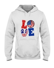basketball love Hooded Sweatshirt thumbnail