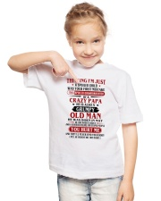 crazy papa born in may Youth T-Shirt lifestyle-youth-tshirt-front-2
