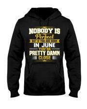 june nobody is perfect Hooded Sweatshirt thumbnail