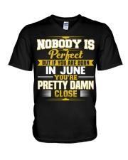 june nobody is perfect V-Neck T-Shirt thumbnail
