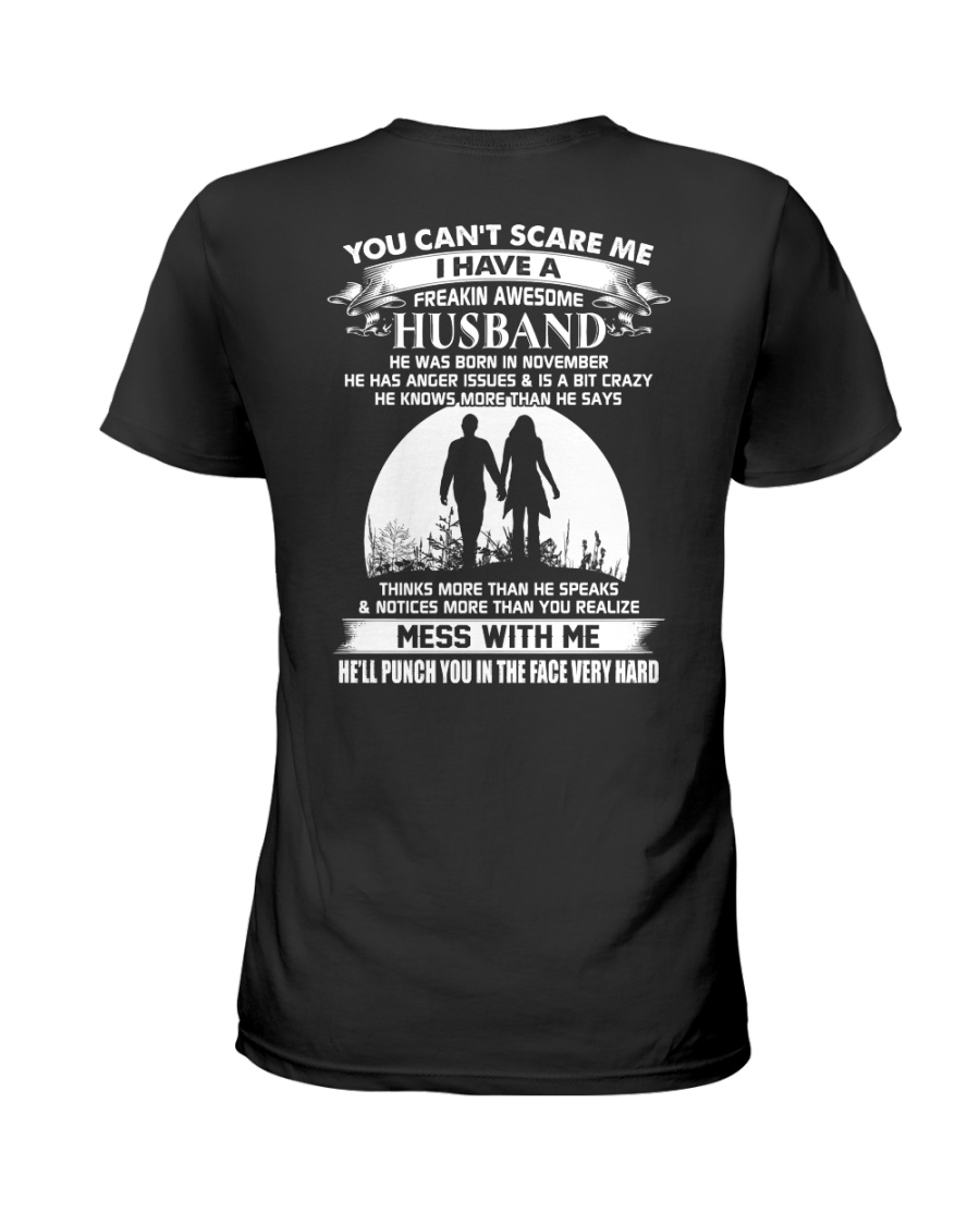 november awesome husband Ladies T-Shirt