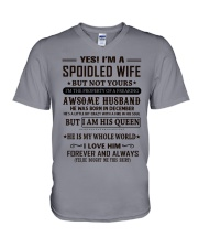 spoiled wife december V-Neck T-Shirt thumbnail