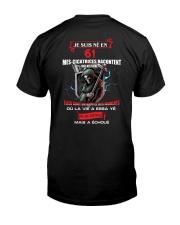 je suis ne en 61 Classic T-Shirt back