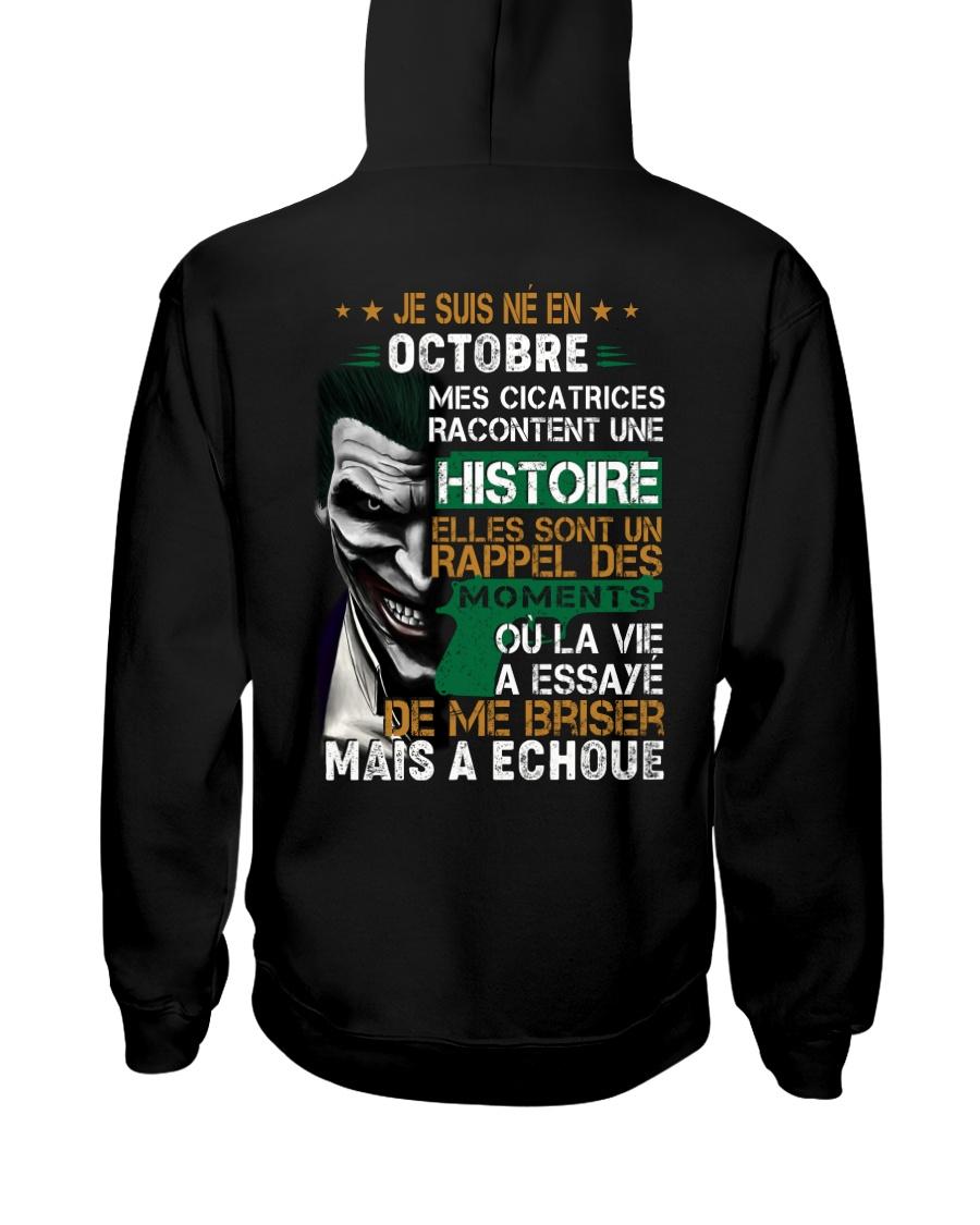 mes cicatrices racontent une histoire octobre Hooded Sweatshirt
