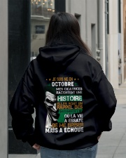 mes cicatrices racontent une histoire octobre Hooded Sweatshirt lifestyle-unisex-hoodie-back-2