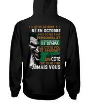 en tant que homme octobre Hooded Sweatshirt back