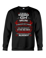 november girl smilling Crewneck Sweatshirt thumbnail