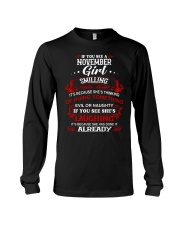 november girl smilling Long Sleeve Tee thumbnail