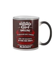 november girl smilling Color Changing Mug thumbnail