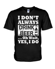 drink beer V-Neck T-Shirt thumbnail